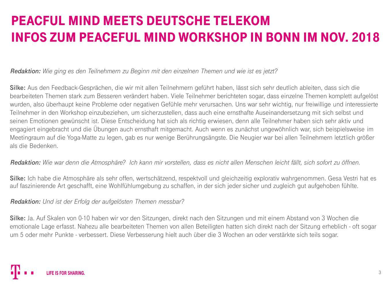 Peaceful Mind Workshop Dt Telekom3